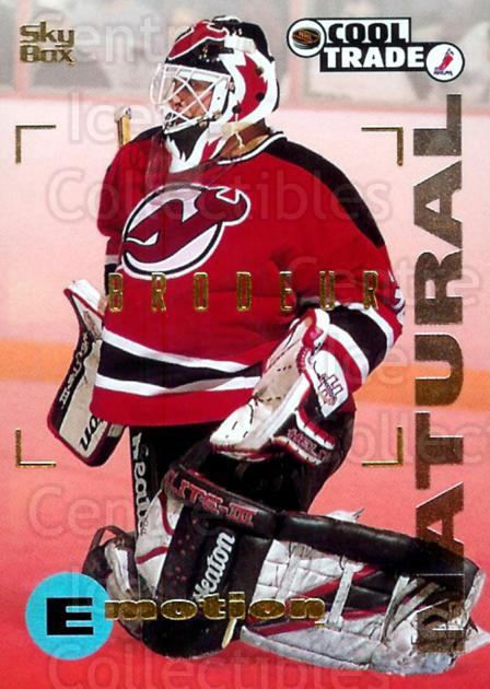 1995-96 NHL Cool Trade #18 Martin Brodeur<br/>1 In Stock - $2.00 each - <a href=https://centericecollectibles.foxycart.com/cart?name=1995-96%20NHL%20Cool%20Trade%20%2318%20Martin%20Brodeur...&price=$2.00&code=269033 class=foxycart> Buy it now! </a>