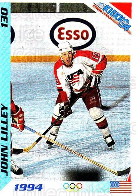 1994 Finnish Jaa Kiekko #130 John Lilley<br/>2 In Stock - $2.00 each - <a href=https://centericecollectibles.foxycart.com/cart?name=1994%20Finnish%20Jaa%20Kiekko%20%23130%20John%20Lilley...&quantity_max=2&price=$2.00&code=2690 class=foxycart> Buy it now! </a>