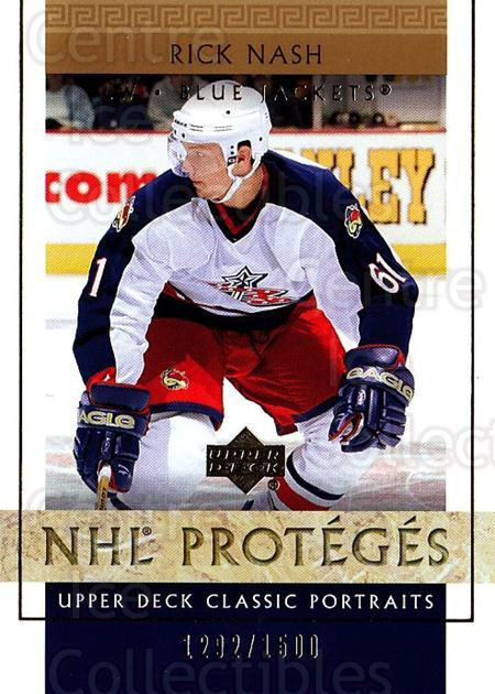 2002-03 UD Classic Portraits #109 Rick Nash<br/>1 In Stock - $10.00 each - <a href=https://centericecollectibles.foxycart.com/cart?name=2002-03%20UD%20Classic%20Portraits%20%23109%20Rick%20Nash...&quantity_max=1&price=$10.00&code=269184 class=foxycart> Buy it now! </a>