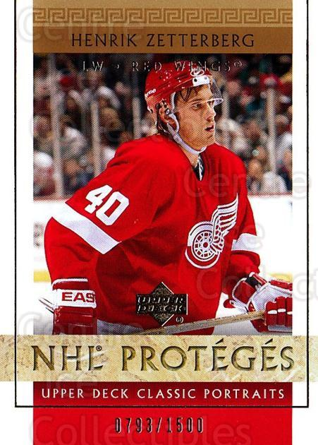 2002-03 UD Classic Portraits #111 Henrik Zetterberg<br/>1 In Stock - $15.00 each - <a href=https://centericecollectibles.foxycart.com/cart?name=2002-03%20UD%20Classic%20Portraits%20%23111%20Henrik%20Zetterbe...&quantity_max=1&price=$15.00&code=269185 class=foxycart> Buy it now! </a>