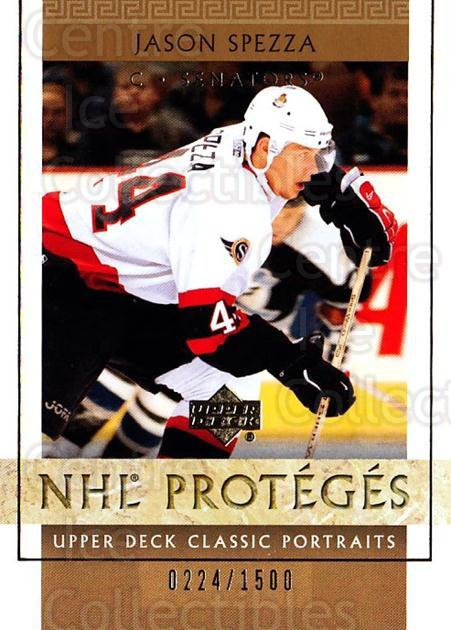 2002-03 UD Classic Portraits #126 Jason Spezza<br/>1 In Stock - $5.00 each - <a href=https://centericecollectibles.foxycart.com/cart?name=2002-03%20UD%20Classic%20Portraits%20%23126%20Jason%20Spezza...&quantity_max=1&price=$5.00&code=269186 class=foxycart> Buy it now! </a>