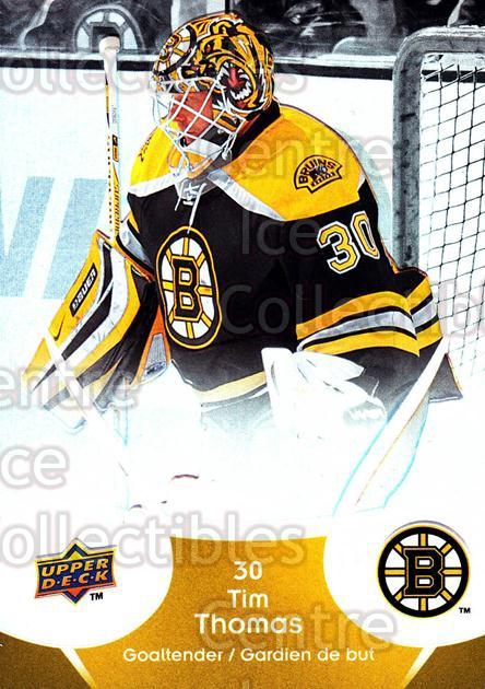 2009-10 McDonalds Upper Deck #3 Tim Thomas<br/>5 In Stock - $1.00 each - <a href=https://centericecollectibles.foxycart.com/cart?name=2009-10%20McDonalds%20Upper%20Deck%20%233%20Tim%20Thomas...&quantity_max=5&price=$1.00&code=269197 class=foxycart> Buy it now! </a>