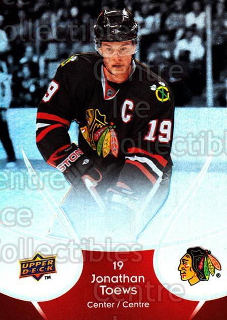 2009-10 McDonalds Upper Deck #11 Jonathan Toews<br/>5 In Stock - $2.00 each - <a href=https://centericecollectibles.foxycart.com/cart?name=2009-10%20McDonalds%20Upper%20Deck%20%2311%20Jonathan%20Toews...&quantity_max=5&price=$2.00&code=269205 class=foxycart> Buy it now! </a>