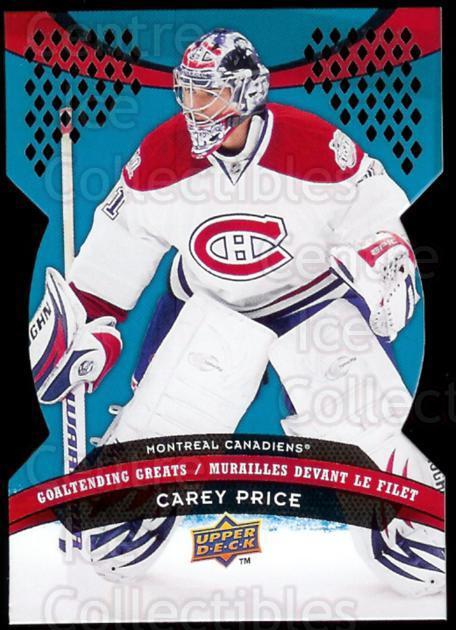 2009-10 McDonalds Upper Deck Goaltending Greats #1 Carey Price<br/>3 In Stock - $3.00 each - <a href=https://centericecollectibles.foxycart.com/cart?name=2009-10%20McDonalds%20Upper%20Deck%20Goaltending%20Greats%20%231%20Carey%20Price...&quantity_max=3&price=$3.00&code=269245 class=foxycart> Buy it now! </a>