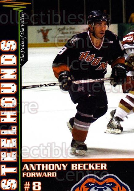 2007-08 Youngstown Steelhounds #25 Anthony Becker<br/>5 In Stock - $3.00 each - <a href=https://centericecollectibles.foxycart.com/cart?name=2007-08%20Youngstown%20Steelhounds%20%2325%20Anthony%20Becker...&price=$3.00&code=269344 class=foxycart> Buy it now! </a>