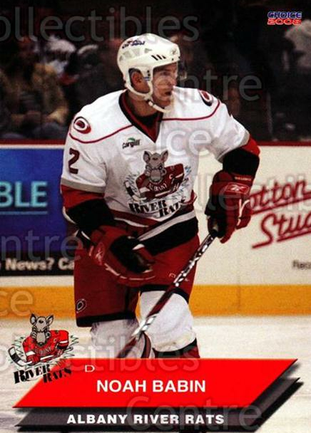 2007-08 Albany River Rats #3 Noah Babin<br/>9 In Stock - $3.00 each - <a href=https://centericecollectibles.foxycart.com/cart?name=2007-08%20Albany%20River%20Rats%20%233%20Noah%20Babin...&price=$3.00&code=269403 class=foxycart> Buy it now! </a>