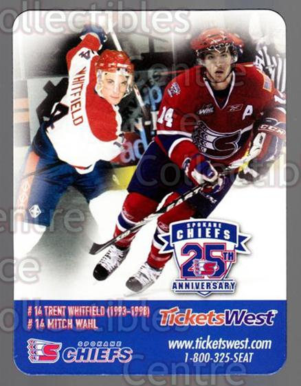 2009-10 Spokane Chiefs Magnets #9 Trent Whitfield, Mitch Wahl<br/>1 In Stock - $3.00 each - <a href=https://centericecollectibles.foxycart.com/cart?name=2009-10%20Spokane%20Chiefs%20Magnets%20%239%20Trent%20Whitfield...&quantity_max=1&price=$3.00&code=269568 class=foxycart> Buy it now! </a>