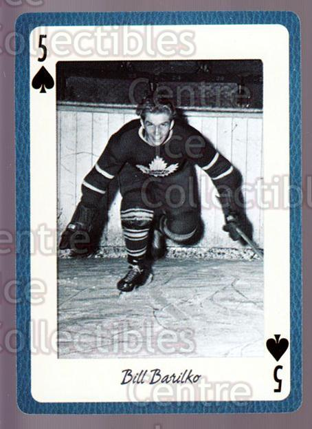 2005 Toronto Maple Leafs Legends Playing Card #5 Bill Barilko<br/>8 In Stock - $2.00 each - <a href=https://centericecollectibles.foxycart.com/cart?name=2005%20Toronto%20Maple%20Leafs%20Legends%20Playing%20Card%20%235%20Bill%20Barilko...&quantity_max=8&price=$2.00&code=269918 class=foxycart> Buy it now! </a>