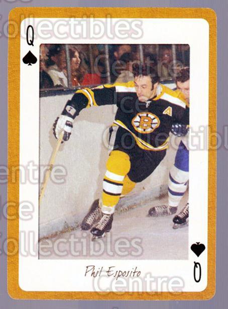 2005 Boston Bruins Legends Playing Card #12 Phil Esposito<br/>12 In Stock - $2.00 each - <a href=https://centericecollectibles.foxycart.com/cart?name=2005%20Boston%20Bruins%20Legends%20Playing%20Card%20%2312%20Phil%20Esposito...&quantity_max=12&price=$2.00&code=269978 class=foxycart> Buy it now! </a>