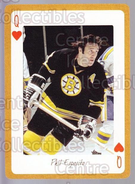 2005 Boston Bruins Legends Playing Card #25 Phil Esposito<br/>14 In Stock - $2.00 each - <a href=https://centericecollectibles.foxycart.com/cart?name=2005%20Boston%20Bruins%20Legends%20Playing%20Card%20%2325%20Phil%20Esposito...&quantity_max=14&price=$2.00&code=269991 class=foxycart> Buy it now! </a>