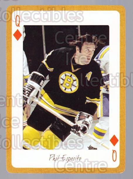 2005 Boston Bruins Legends Playing Card #51 Phil Esposito<br/>14 In Stock - $2.00 each - <a href=https://centericecollectibles.foxycart.com/cart?name=2005%20Boston%20Bruins%20Legends%20Playing%20Card%20%2351%20Phil%20Esposito...&quantity_max=14&price=$2.00&code=270017 class=foxycart> Buy it now! </a>
