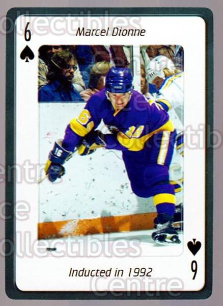 2006 Hockey Hall Of Fame Playing Card #6 Marcel Dionne<br/>4 In Stock - $2.00 each - <a href=https://centericecollectibles.foxycart.com/cart?name=2006%20Hockey%20Hall%20Of%20Fame%20Playing%20Card%20%236%20Marcel%20Dionne...&quantity_max=4&price=$2.00&code=270024 class=foxycart> Buy it now! </a>