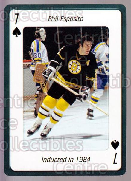 2006 Hockey Hall Of Fame Playing Card #7 Phil Esposito<br/>4 In Stock - $2.00 each - <a href=https://centericecollectibles.foxycart.com/cart?name=2006%20Hockey%20Hall%20Of%20Fame%20Playing%20Card%20%237%20Phil%20Esposito...&quantity_max=4&price=$2.00&code=270025 class=foxycart> Buy it now! </a>