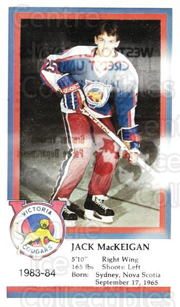 1983-84 Victoria Cougars #15 Jack Mackeigan<br/>6 In Stock - $3.00 each - <a href=https://centericecollectibles.foxycart.com/cart?name=1983-84%20Victoria%20Cougars%20%2315%20Jack%20Mackeigan...&price=$3.00&code=27003 class=foxycart> Buy it now! </a>