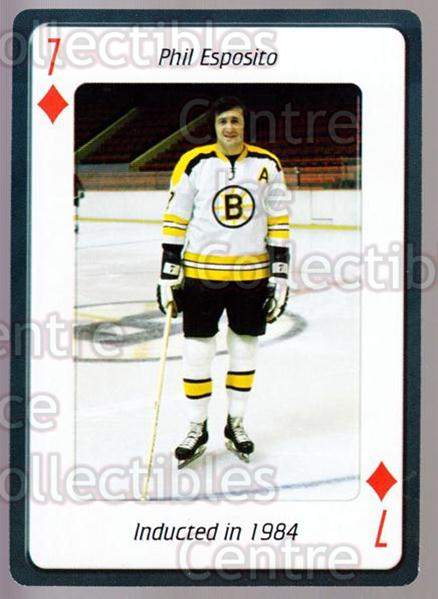 2006 Hockey Hall Of Fame Playing Card #46 Phil Esposito<br/>4 In Stock - $2.00 each - <a href=https://centericecollectibles.foxycart.com/cart?name=2006%20Hockey%20Hall%20Of%20Fame%20Playing%20Card%20%2346%20Phil%20Esposito...&quantity_max=4&price=$2.00&code=270064 class=foxycart> Buy it now! </a>
