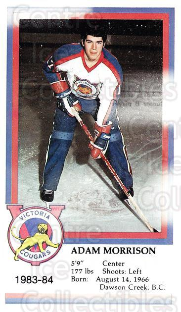 1983-84 Victoria Cougars #19 Adam Morrison<br/>4 In Stock - $3.00 each - <a href=https://centericecollectibles.foxycart.com/cart?name=1983-84%20Victoria%20Cougars%20%2319%20Adam%20Morrison...&price=$3.00&code=27007 class=foxycart> Buy it now! </a>