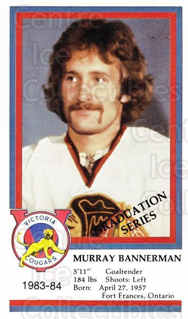 1983-84 Victoria Cougars #2 Murray Bannerman<br/>1 In Stock - $3.00 each - <a href=https://centericecollectibles.foxycart.com/cart?name=1983-84%20Victoria%20Cougars%20%232%20Murray%20Bannerma...&quantity_max=1&price=$3.00&code=27008 class=foxycart> Buy it now! </a>