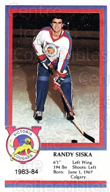 1983-84 Victoria Cougars #22 Randy Siska<br/>5 In Stock - $3.00 each - <a href=https://centericecollectibles.foxycart.com/cart?name=1983-84%20Victoria%20Cougars%20%2322%20Randy%20Siska...&price=$3.00&code=27011 class=foxycart> Buy it now! </a>