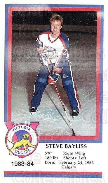 1983-84 Victoria Cougars #3 Steve Bayliss<br/>6 In Stock - $3.00 each - <a href=https://centericecollectibles.foxycart.com/cart?name=1983-84%20Victoria%20Cougars%20%233%20Steve%20Bayliss...&price=$3.00&code=27014 class=foxycart> Buy it now! </a>