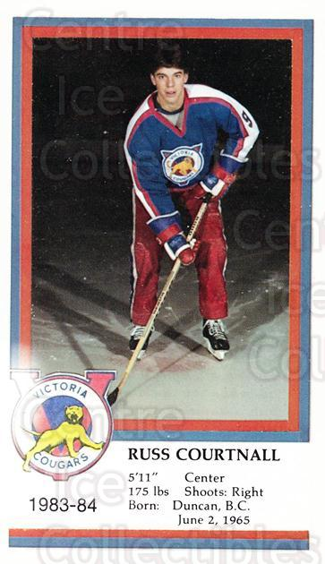 1983-84 Victoria Cougars #5 Russ Courtnall<br/>2 In Stock - $3.00 each - <a href=https://centericecollectibles.foxycart.com/cart?name=1983-84%20Victoria%20Cougars%20%235%20Russ%20Courtnall...&price=$3.00&code=27016 class=foxycart> Buy it now! </a>