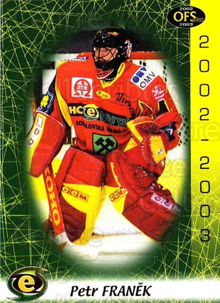 2002-03 Czech OFS #278 Petr Franek<br/>3 In Stock - $2.00 each - <a href=https://centericecollectibles.foxycart.com/cart?name=2002-03%20Czech%20OFS%20%23278%20Petr%20Franek...&price=$2.00&code=270181 class=foxycart> Buy it now! </a>