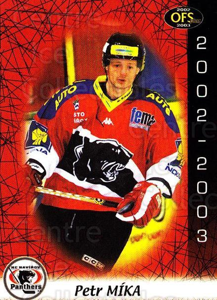 2002-03 Czech OFS #307 Petr Mika<br/>3 In Stock - $2.00 each - <a href=https://centericecollectibles.foxycart.com/cart?name=2002-03%20Czech%20OFS%20%23307%20Petr%20Mika...&quantity_max=3&price=$2.00&code=270189 class=foxycart> Buy it now! </a>