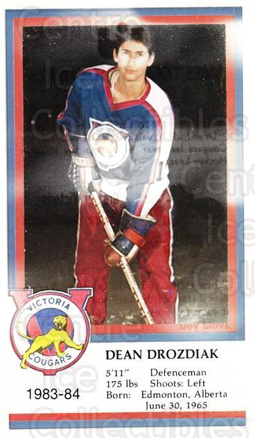 1983-84 Victoria Cougars #7 Dean Drozdiak<br/>6 In Stock - $3.00 each - <a href=https://centericecollectibles.foxycart.com/cart?name=1983-84%20Victoria%20Cougars%20%237%20Dean%20Drozdiak...&price=$3.00&code=27018 class=foxycart> Buy it now! </a>