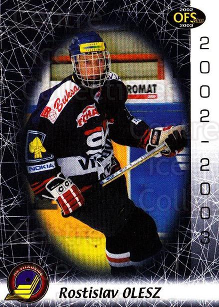2002-03 Czech OFS #309 Rostislav Olesz<br/>2 In Stock - $2.00 each - <a href=https://centericecollectibles.foxycart.com/cart?name=2002-03%20Czech%20OFS%20%23309%20Rostislav%20Olesz...&quantity_max=2&price=$2.00&code=270191 class=foxycart> Buy it now! </a>