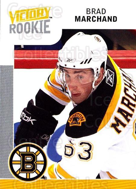 2009-10 UD Victory #302 Brad Marchand<br/>1 In Stock - $5.00 each - <a href=https://centericecollectibles.foxycart.com/cart?name=2009-10%20UD%20Victory%20%23302%20Brad%20Marchand...&quantity_max=1&price=$5.00&code=270348 class=foxycart> Buy it now! </a>