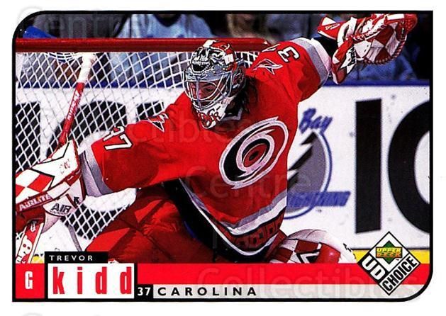 1998-99 UD Choice #42 Trevor Kidd<br/>2 In Stock - $1.00 each - <a href=https://centericecollectibles.foxycart.com/cart?name=1998-99%20UD%20Choice%20%2342%20Trevor%20Kidd...&quantity_max=2&price=$1.00&code=270391 class=foxycart> Buy it now! </a>