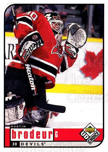1998-99 UD Choice #116 Martin Brodeur<br/>2 In Stock - $2.00 each - <a href=https://centericecollectibles.foxycart.com/cart?name=1998-99%20UD%20Choice%20%23116%20Martin%20Brodeur...&quantity_max=2&price=$2.00&code=270394 class=foxycart> Buy it now! </a>