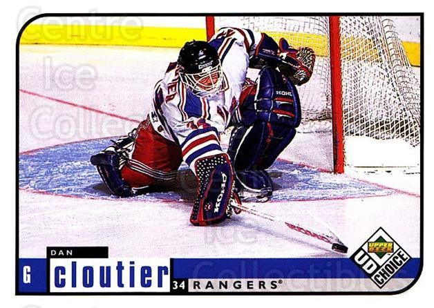 1998-99 UD Choice #131 Dan Cloutier<br/>3 In Stock - $1.00 each - <a href=https://centericecollectibles.foxycart.com/cart?name=1998-99%20UD%20Choice%20%23131%20Dan%20Cloutier...&quantity_max=3&price=$1.00&code=270396 class=foxycart> Buy it now! </a>