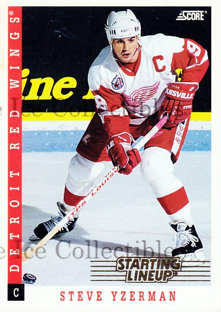 1994 Kenner Starting Lineup Cards #21 Steve Yzerman<br/>2 In Stock - $5.00 each - <a href=https://centericecollectibles.foxycart.com/cart?name=1994%20Kenner%20Starting%20Lineup%20Cards%20%2321%20Steve%20Yzerman...&price=$5.00&code=270475 class=foxycart> Buy it now! </a>