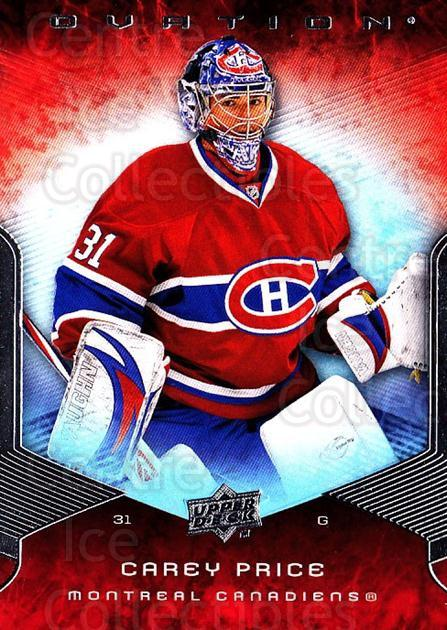 2008-09 UD Ovation #26 Carey Price<br/>1 In Stock - $3.00 each - <a href=https://centericecollectibles.foxycart.com/cart?name=2008-09%20UD%20Ovation%20%2326%20Carey%20Price...&quantity_max=1&price=$3.00&code=270699 class=foxycart> Buy it now! </a>