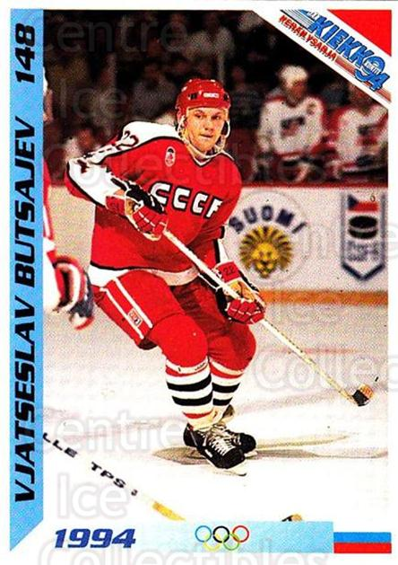 1994 Finnish Jaa Kiekko #148 Vyatcheslav Butsayev<br/>4 In Stock - $2.00 each - <a href=https://centericecollectibles.foxycart.com/cart?name=1994%20Finnish%20Jaa%20Kiekko%20%23148%20Vyatcheslav%20But...&quantity_max=4&price=$2.00&code=2706 class=foxycart> Buy it now! </a>