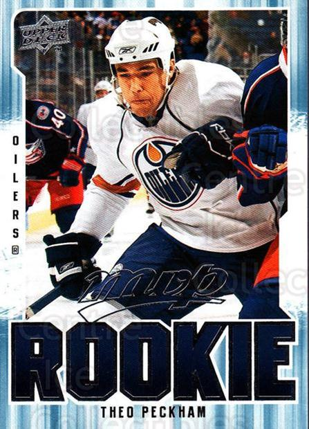 2008-09 Upper Deck MVP #306 Theo Peckham<br/>1 In Stock - $2.00 each - <a href=https://centericecollectibles.foxycart.com/cart?name=2008-09%20Upper%20Deck%20MVP%20%23306%20Theo%20Peckham...&quantity_max=1&price=$2.00&code=270729 class=foxycart> Buy it now! </a>
