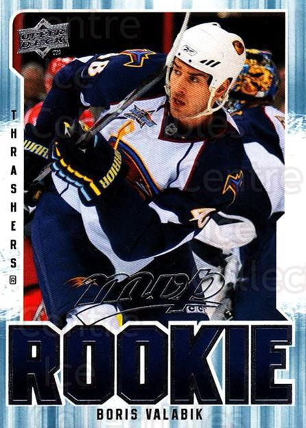 2008-09 Upper Deck MVP #355 Boris Valabik<br/>2 In Stock - $2.00 each - <a href=https://centericecollectibles.foxycart.com/cart?name=2008-09%20Upper%20Deck%20MVP%20%23355%20Boris%20Valabik...&quantity_max=2&price=$2.00&code=270778 class=foxycart> Buy it now! </a>