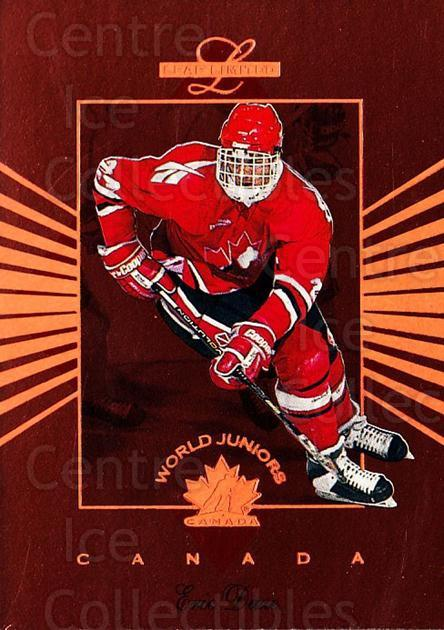 1994-95 Leaf Limited World Juniors Canada #2 Eric Daze<br/>8 In Stock - $3.00 each - <a href=https://centericecollectibles.foxycart.com/cart?name=1994-95%20Leaf%20Limited%20World%20Juniors%20Canada%20%232%20Eric%20Daze...&price=$3.00&code=270822 class=foxycart> Buy it now! </a>