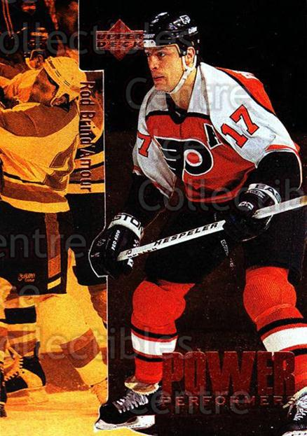 1996-97 Upper Deck Power Performers #26 Rod Brind'Amour<br/>1 In Stock - $2.00 each - <a href=https://centericecollectibles.foxycart.com/cart?name=1996-97%20Upper%20Deck%20Power%20Performers%20%2326%20Rod%20Brind'Amour...&quantity_max=1&price=$2.00&code=270847 class=foxycart> Buy it now! </a>