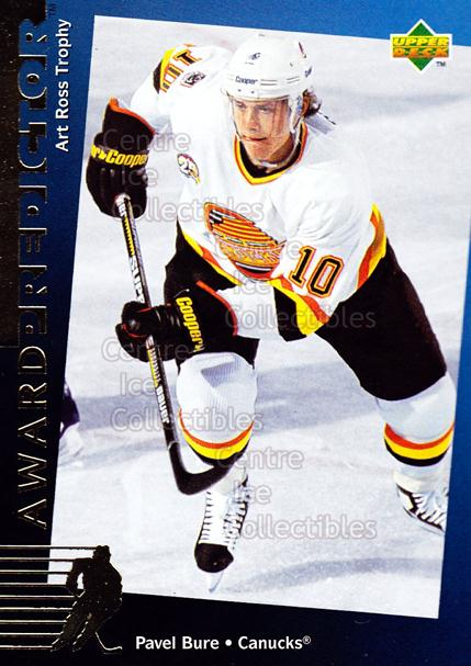 1994-95 Upper Deck Predictor Hobby Exchange Gold #19 Pavel Bure<br/>8 In Stock - $3.00 each - <a href=https://centericecollectibles.foxycart.com/cart?name=1994-95%20Upper%20Deck%20Predictor%20Hobby%20Exchange%20Gold%20%2319%20Pavel%20Bure...&quantity_max=8&price=$3.00&code=270853 class=foxycart> Buy it now! </a>