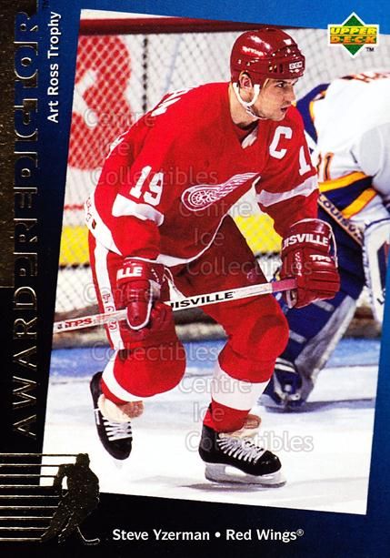 1994-95 Upper Deck Predictor Hobby Exchange Gold #22 Steve Yzerman<br/>25 In Stock - $5.00 each - <a href=https://centericecollectibles.foxycart.com/cart?name=1994-95%20Upper%20Deck%20Predictor%20Hobby%20Exchange%20Gold%20%2322%20Steve%20Yzerman...&price=$5.00&code=270854 class=foxycart> Buy it now! </a>