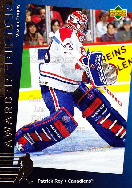 1994-95 Upper Deck Predictor Hobby Exchange Gold #26 Patrick Roy<br/>2 In Stock - $5.00 each - <a href=https://centericecollectibles.foxycart.com/cart?name=1994-95%20Upper%20Deck%20Predictor%20Hobby%20Exchange%20Gold%20%2326%20Patrick%20Roy...&quantity_max=2&price=$5.00&code=270856 class=foxycart> Buy it now! </a>