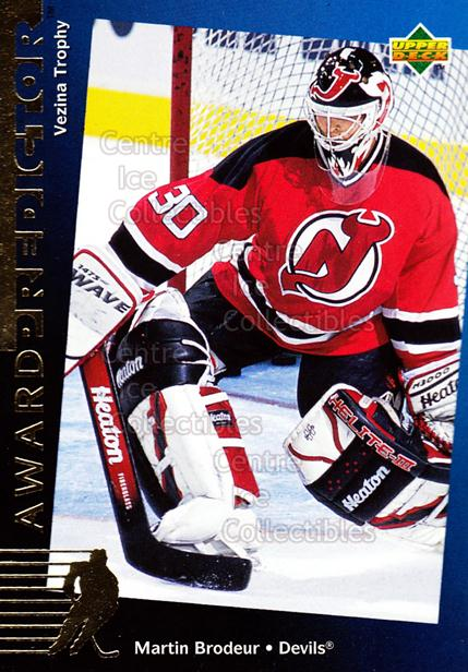 1994-95 Upper Deck Predictor Hobby Exchange Gold #29 Martin Brodeur<br/>19 In Stock - $5.00 each - <a href=https://centericecollectibles.foxycart.com/cart?name=1994-95%20Upper%20Deck%20Predictor%20Hobby%20Exchange%20Gold%20%2329%20Martin%20Brodeur...&price=$5.00&code=270857 class=foxycart> Buy it now! </a>