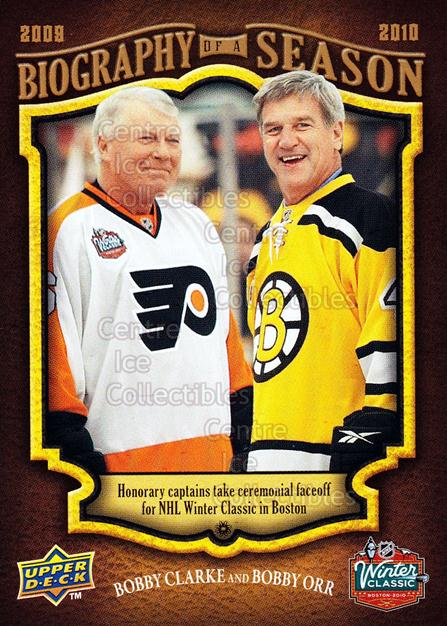 2009-10 Upper Deck Biography of a Season #19 Bobby Clark, Bobby Orr<br/>56 In Stock - $3.00 each - <a href=https://centericecollectibles.foxycart.com/cart?name=2009-10%20Upper%20Deck%20Biography%20of%20a%20Season%20%2319%20Bobby%20Clark,%20Bo...&price=$3.00&code=270938 class=foxycart> Buy it now! </a>