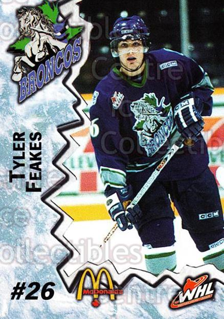 2004-05 Swift Current Broncos #4 Tyler Feakes<br/>10 In Stock - $3.00 each - <a href=https://centericecollectibles.foxycart.com/cart?name=2004-05%20Swift%20Current%20Broncos%20%234%20Tyler%20Feakes...&quantity_max=10&price=$3.00&code=270960 class=foxycart> Buy it now! </a>