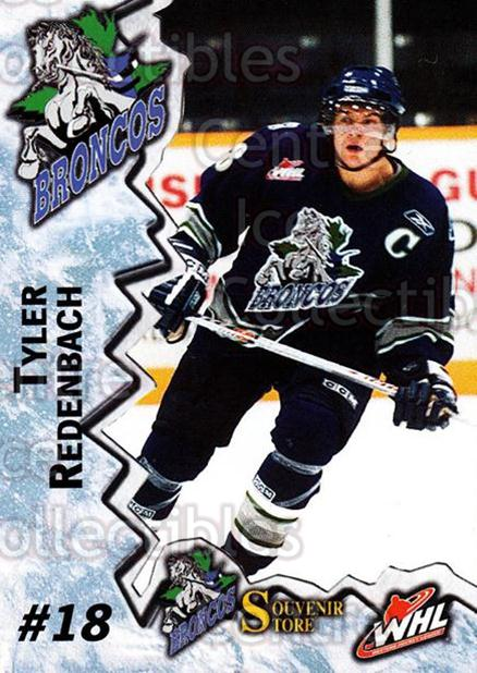 2004-05 Swift Current Broncos #15 Tyler Redenbach<br/>4 In Stock - $3.00 each - <a href=https://centericecollectibles.foxycart.com/cart?name=2004-05%20Swift%20Current%20Broncos%20%2315%20Tyler%20Redenbach...&quantity_max=4&price=$3.00&code=270961 class=foxycart> Buy it now! </a>