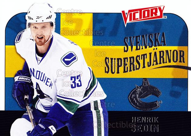 2009-10 Swedish UD Victory Svenska Superstjarnor #16 Henrik Sedin<br/>9 In Stock - $2.00 each - <a href=https://centericecollectibles.foxycart.com/cart?name=2009-10%20Swedish%20UD%20Victory%20Svenska%20Superstjarnor%20%2316%20Henrik%20Sedin...&quantity_max=9&price=$2.00&code=271177 class=foxycart> Buy it now! </a>