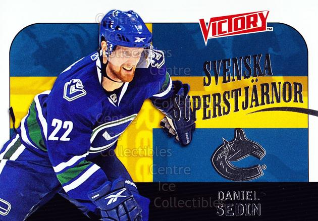2009-10 Swedish UD Victory Svenska Superstjarnor #17 Daniel Sedin<br/>9 In Stock - $2.00 each - <a href=https://centericecollectibles.foxycart.com/cart?name=2009-10%20Swedish%20UD%20Victory%20Svenska%20Superstjarnor%20%2317%20Daniel%20Sedin...&price=$2.00&code=271178 class=foxycart> Buy it now! </a>