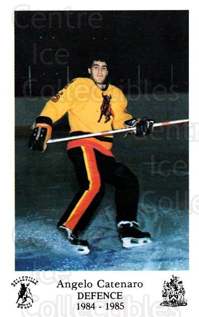 1984-85 Belleville Bulls #17 Angelo Catenaro<br/>1 In Stock - $3.00 each - <a href=https://centericecollectibles.foxycart.com/cart?name=1984-85%20Belleville%20Bulls%20%2317%20Angelo%20Catenaro...&price=$3.00&code=27122 class=foxycart> Buy it now! </a>