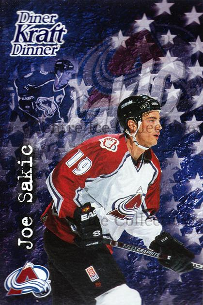 1995-96 Kraft Dinner #23 Joe Sakic<br/>3 In Stock - $3.00 each - <a href=https://centericecollectibles.foxycart.com/cart?name=1995-96%20Kraft%20Dinner%20%2323%20Joe%20Sakic...&price=$3.00&code=271336 class=foxycart> Buy it now! </a>